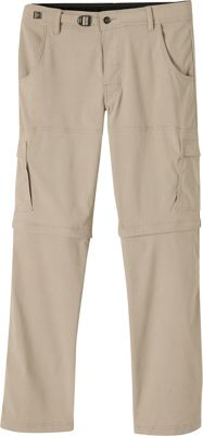 PrAna Stretch Zion Convertible Pants - 32 inch Inseam 30 - Dark Khaki - PrAna Men's Apparel