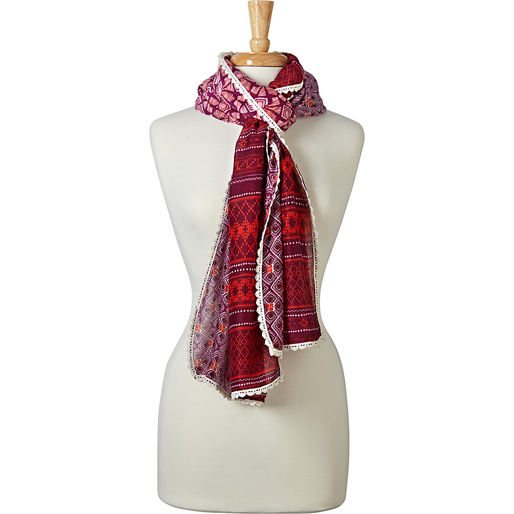 PrAna Carmen Scarf Sunlit Coral - PrAna Hats/Gloves/Scarves - Fashion Accessories, Hats/Gloves/Scarves