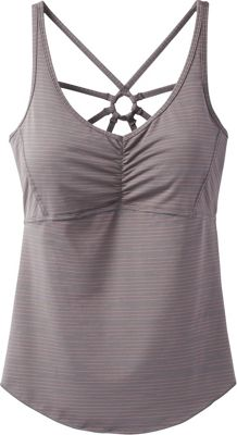 PrAna Dreaming Top M - Moonrock Broken Stripe - PrAna Women's Apparel