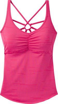 PrAna Dreaming Top M - Cosmo Pink Broken Stripe - PrAna Women's Apparel