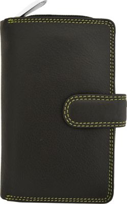 Visconti Ladies Leather Holder Wallet / Purse Green - Visconti Women's Wallets