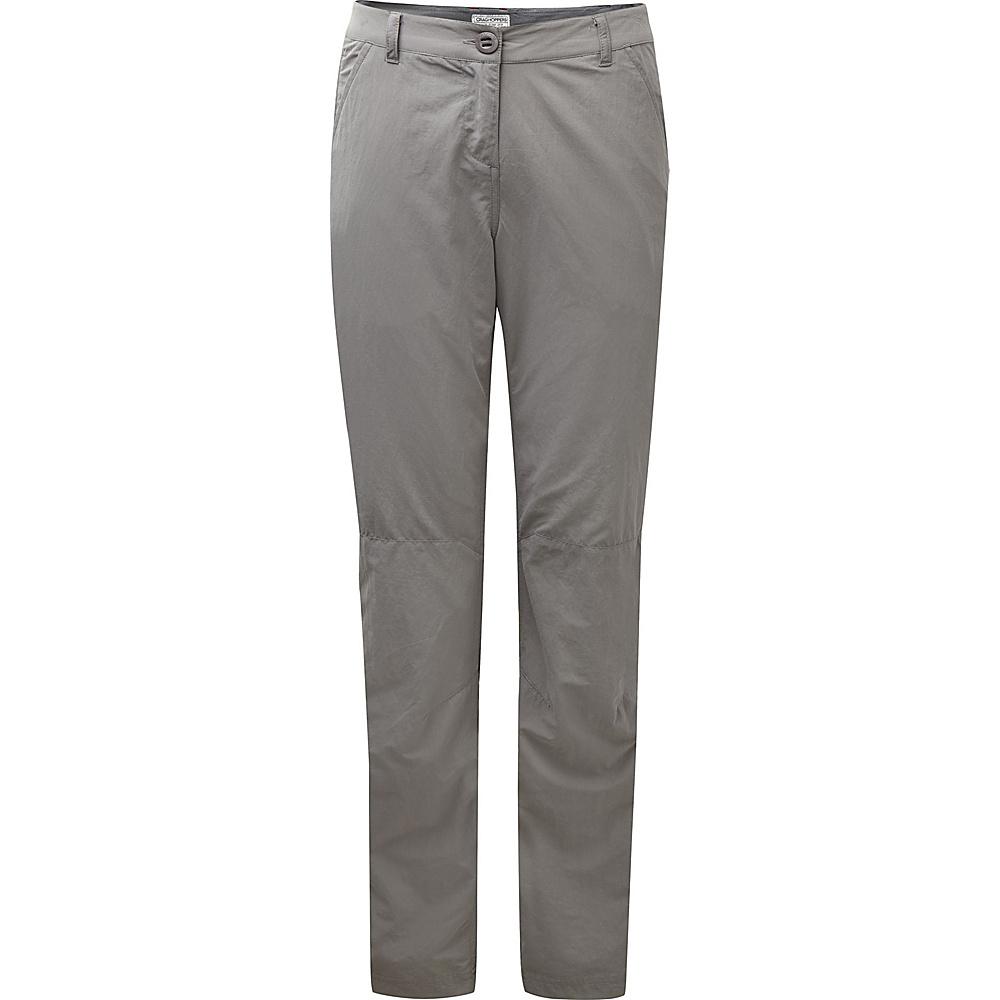 Craghoppers Nosilife Trousers - Regular 4 - Platinum - Craghoppers Womens Apparel - Apparel & Footwear, Women's Apparel