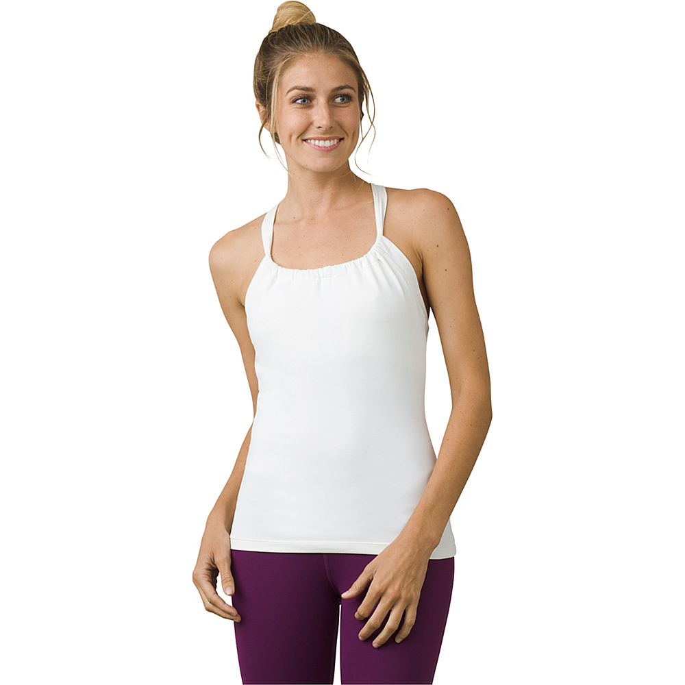 PrAna Quinn Chakara Top S - White - PrAna Womens Apparel - Apparel & Footwear, Women's Apparel