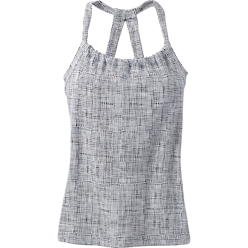 PrAna Quinn Chakara Top L - White Print - PrAna Womens Apparel - Apparel & Footwear, Women's Apparel