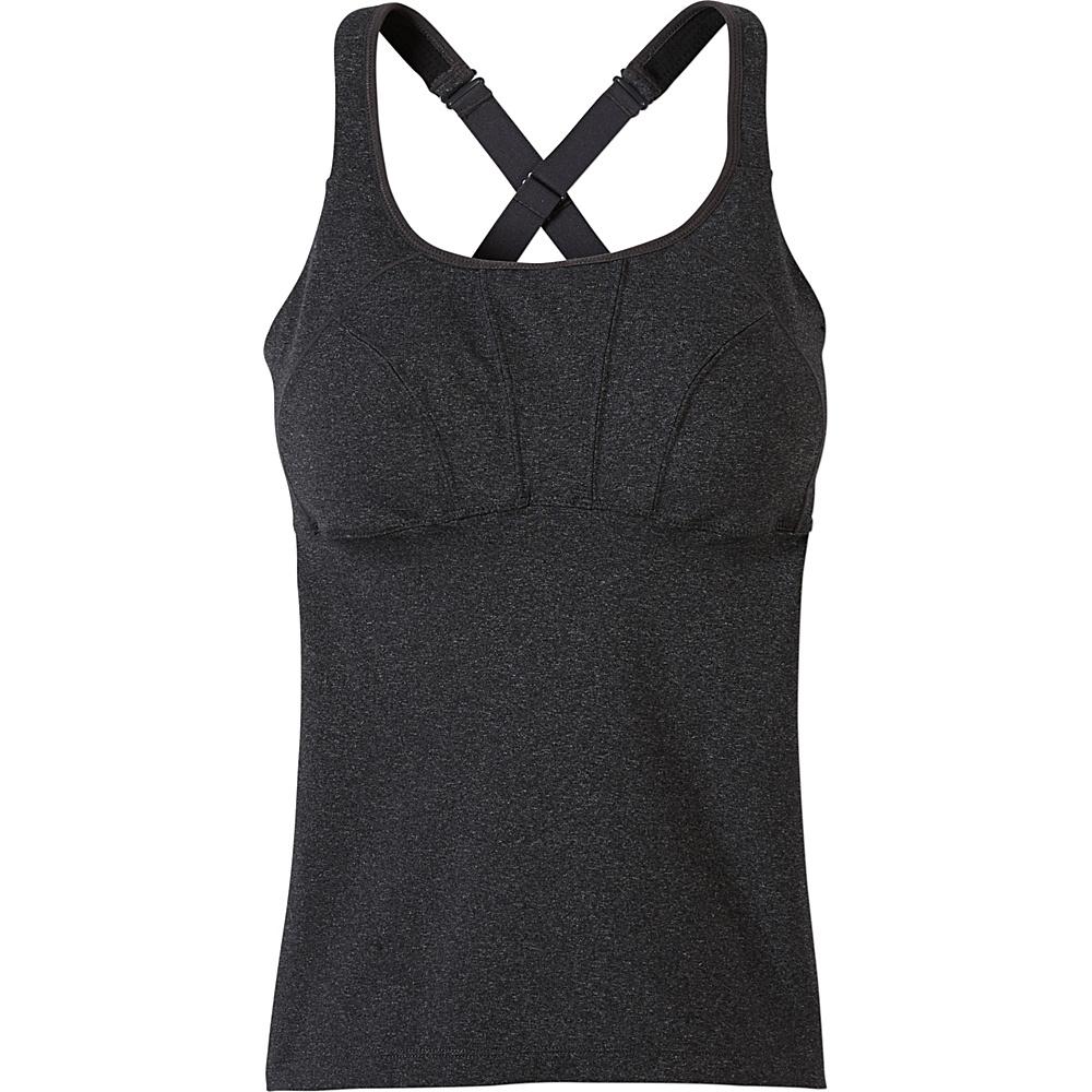 PrAna Willa Top S - Charcoal Heather - PrAna Womens Apparel - Apparel & Footwear, Women's Apparel