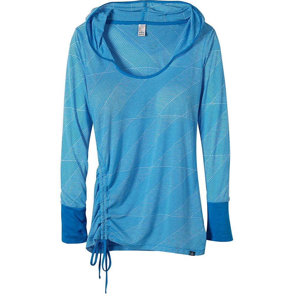 PrAna Vinyasa Hoodie L - Electro Blue - PrAna Womens Apparel - Apparel & Footwear, Women's Apparel