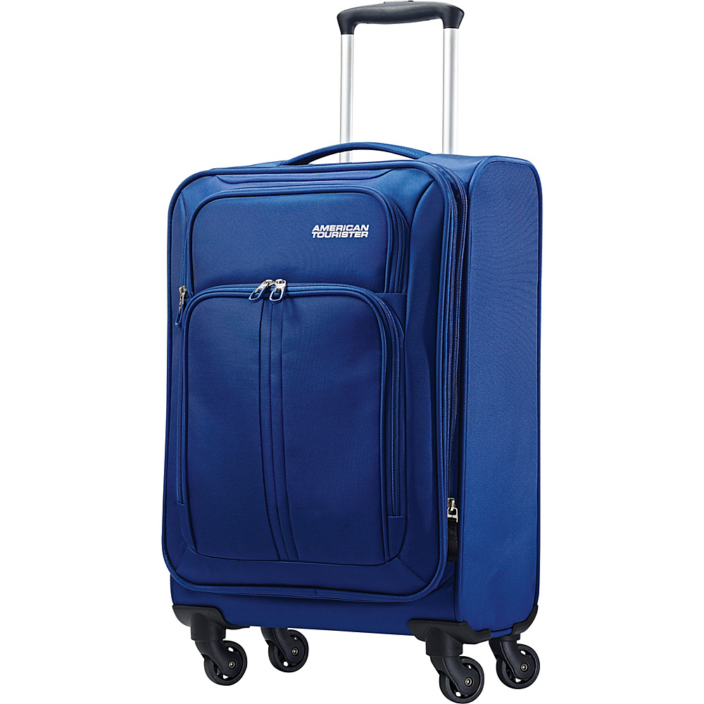 American Tourister Splash Spin LTE Spinner 20 Blue - American Tourister Softside Carry-On