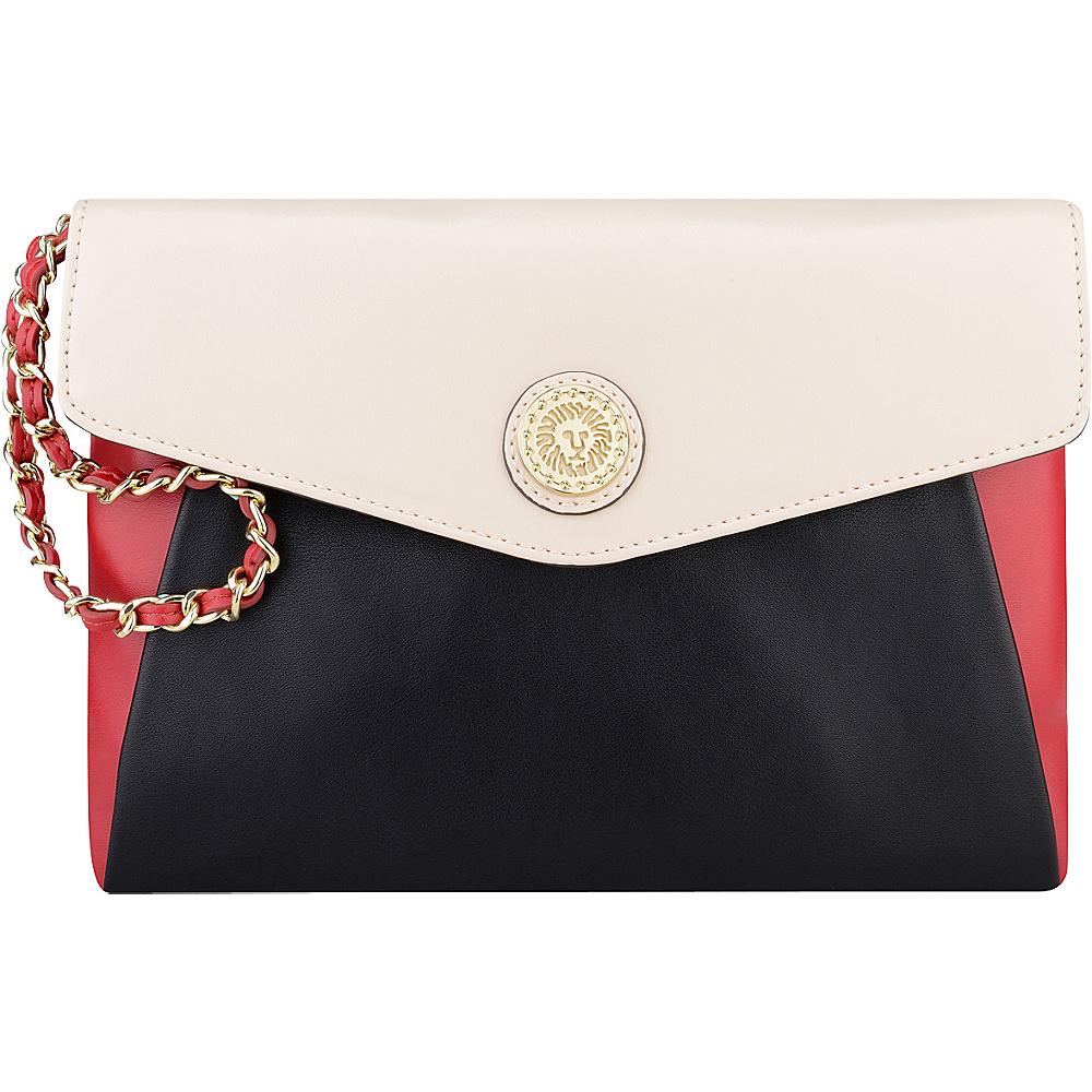 Anne Klein One to Watch Large Wristlet Black/Bone/Cherry - Anne Klein Manmade Handbags
