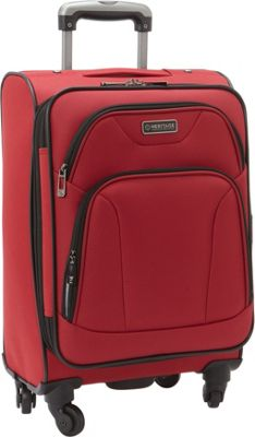 Heritage Heritage Wicker Park 20 inch Carry-On Red - Heritage Softside Carry-On