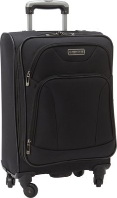 Heritage Heritage Wicker Park 20 inch Carry-On Black - Heritage Softside Carry-On