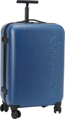 Calvin Klein Luggage Southampton 2.0 24 Upright Hardside Spinner Blue - Calvin Klein Luggage Hardside Checked