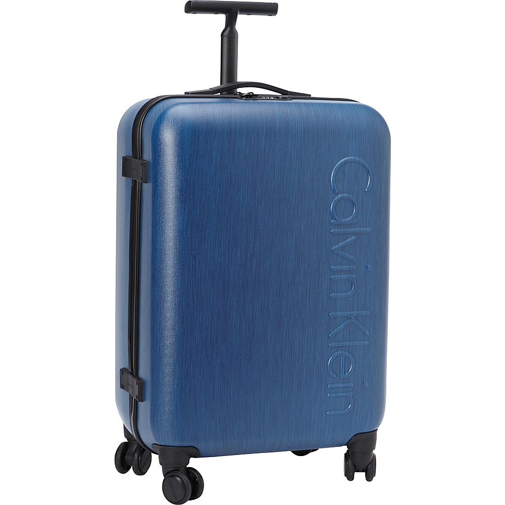 Calvin Klein Luggage Southampton 2.0 24 Upright Hardside Spinner Blue Calvin Klein Luggage Hardside Checked