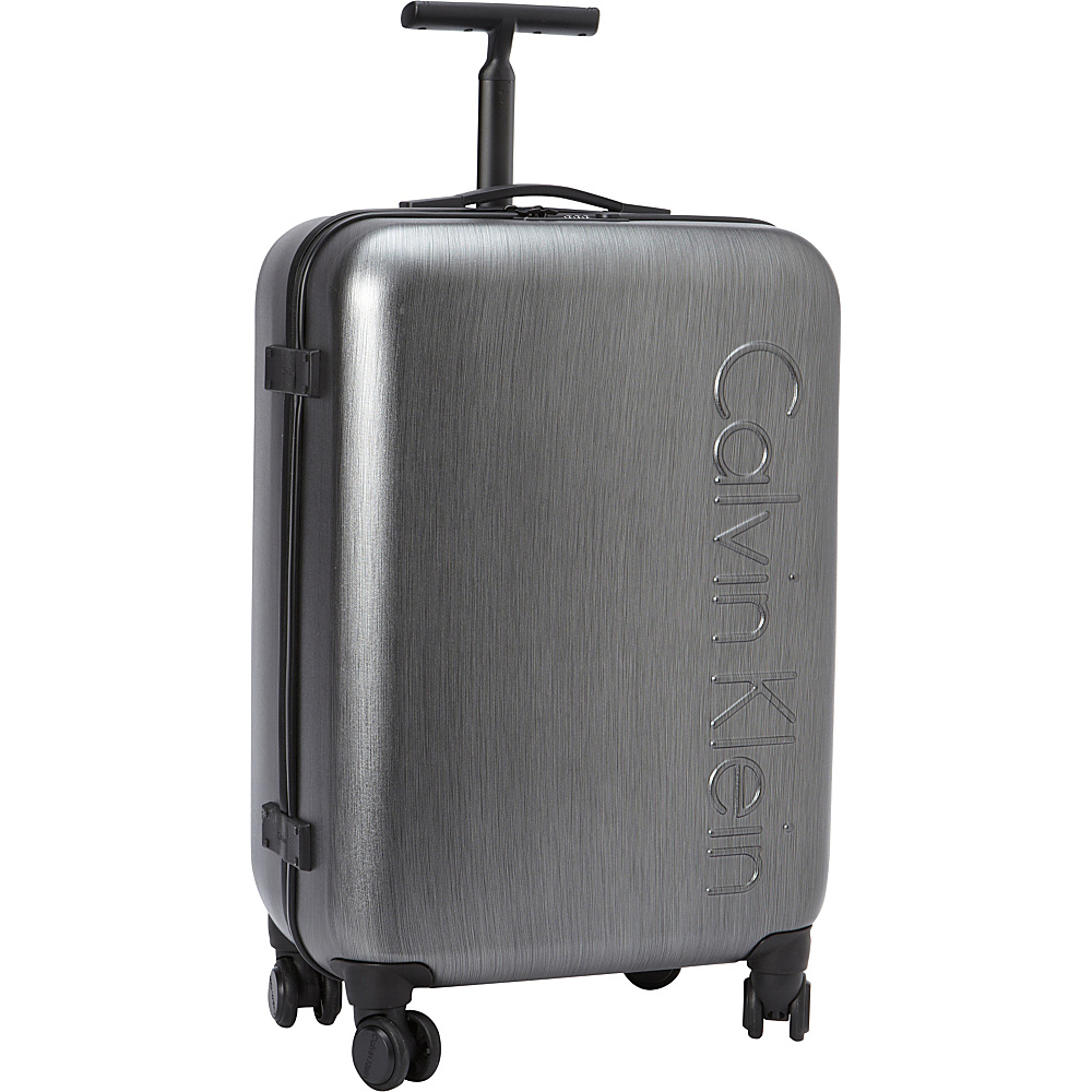 Calvin Klein Luggage Southampton 2.0 24 Upright Hardside Spinner Charcoal Calvin Klein Luggage Hardside Checked