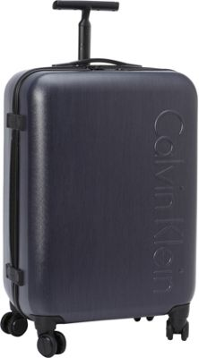 Calvin Klein Luggage Southampton 2.0 24 Upright Hardside Spinner Dark Blue - Calvin Klein Luggage Hardside Checked