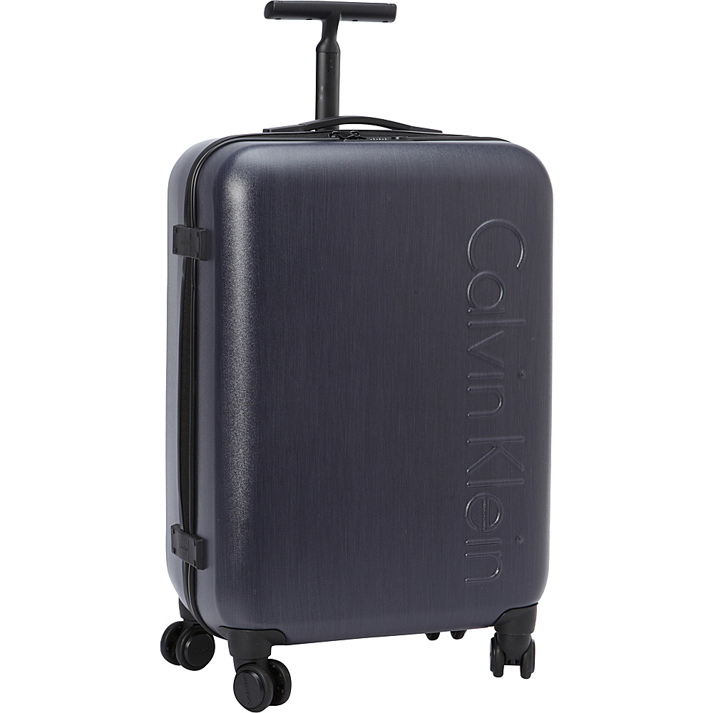 Calvin Klein Luggage Southampton 2.0 24 Upright Hardside Spinner Dark Blue Calvin Klein Luggage Hardside Checked