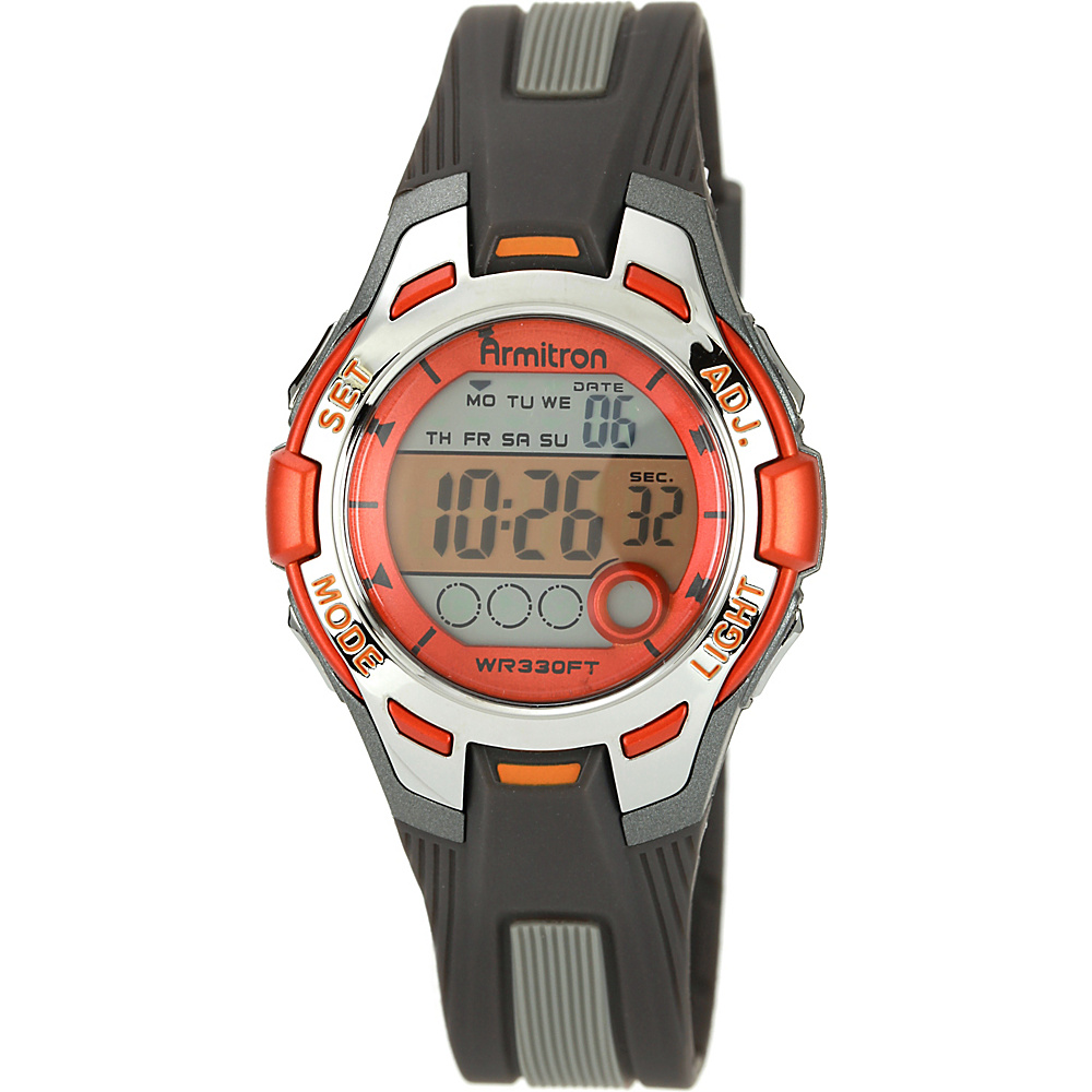 Armitron Sport Womens Digital Chronograph Resin Strap Watch Orange Armitron Watches