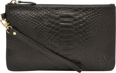 HButler The Mighty Purse Phone Charging Wristlet-Reptile Reptile Black - HButler Leather Handbags