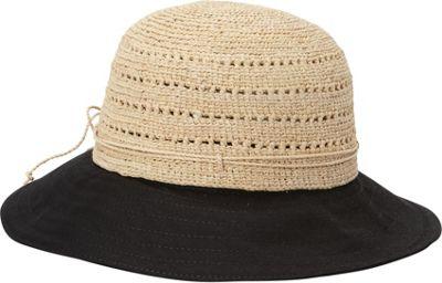 Helen Kaminski Kessy 8 Hat One Size - Natural/Black - Helen Kaminski Hats/Gloves/Scarves