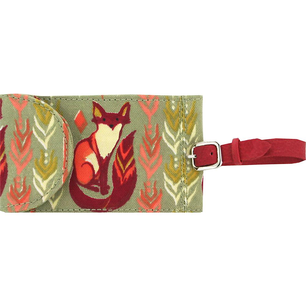 Capri Designs Sarah Watts Luggage Tag Fox Capri Designs Luggage Accessories