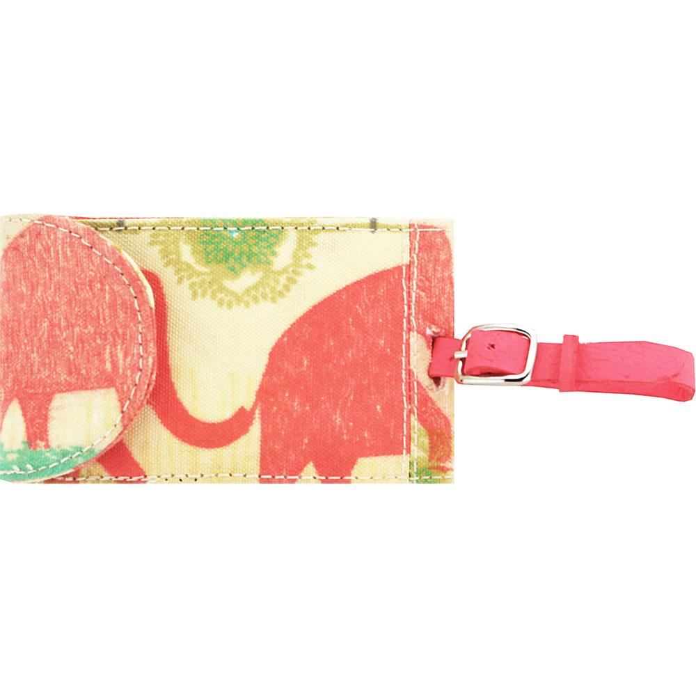 Capri Designs Sarah Watts Luggage Tag Elephant Capri Designs Luggage Accessories