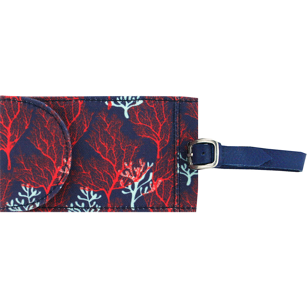 Capri Designs Sarah Watts Luggage Tag Coral Capri Designs Luggage Accessories