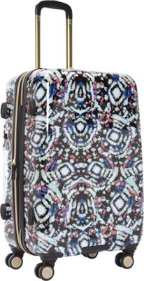 "Image of Aimee Kestenberg Malibu 24"" Checked Upright Tie Dye - Aimee Kestenberg Large Rolling Luggage"