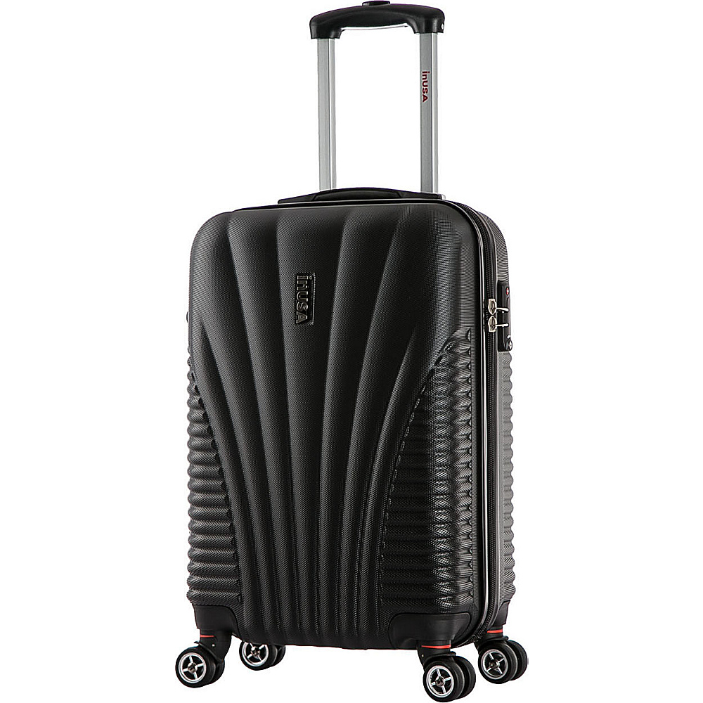inUSA Chicago Collection 21 Carry on Lightweight Hardside Spinner Suitcase Black inUSA Softside Carry On
