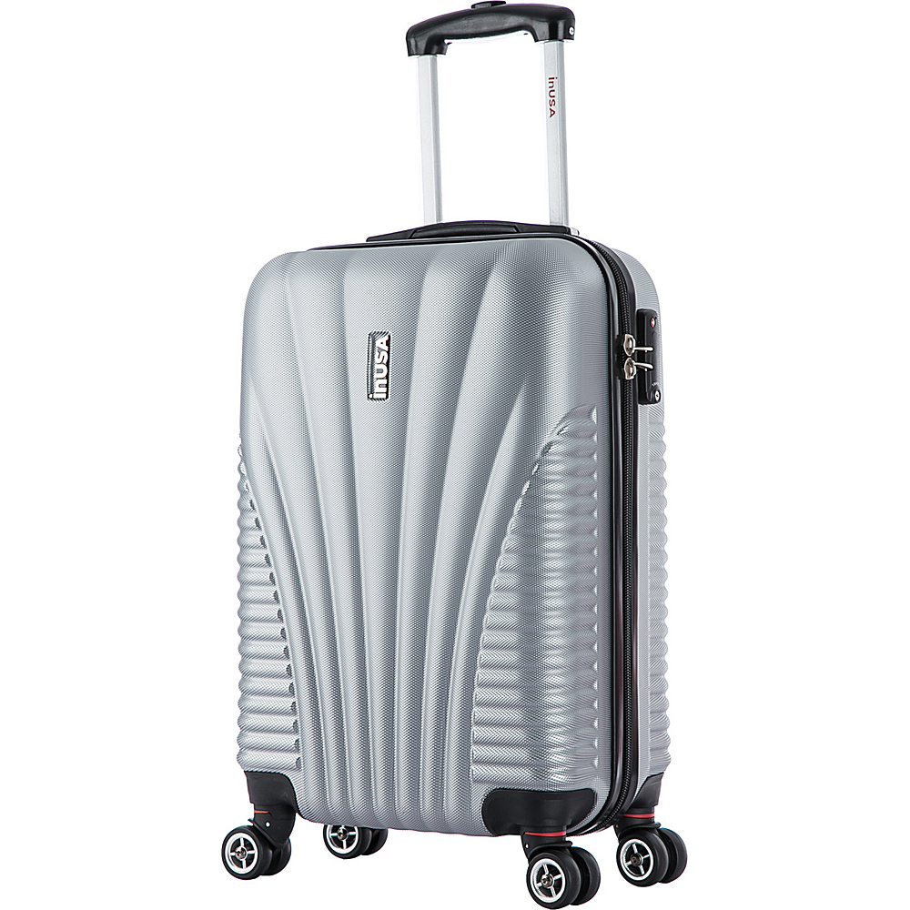 inUSA Chicago Collection 21 Carry on Lightweight Hardside Spinner Suitcase Silver inUSA Softside Carry On