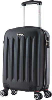 inUSA Philadelphia Collection 19 inch  Carry-on Lightweight Hardside Spinner Suitcase Black - inUSA Hardside Carry-On