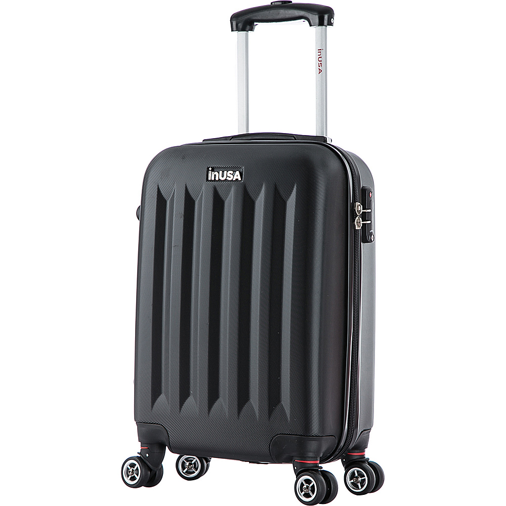 inUSA Philadelphia Collection 19 Carry on Lightweight Hardside Spinner Suitcase Black inUSA Hardside Carry On