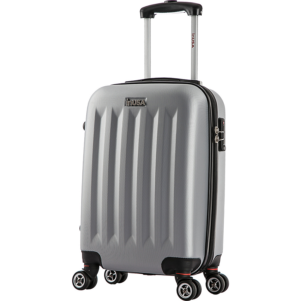 inUSA Philadelphia Collection 19 Carry on Lightweight Hardside Spinner Suitcase Grey inUSA Hardside Carry On