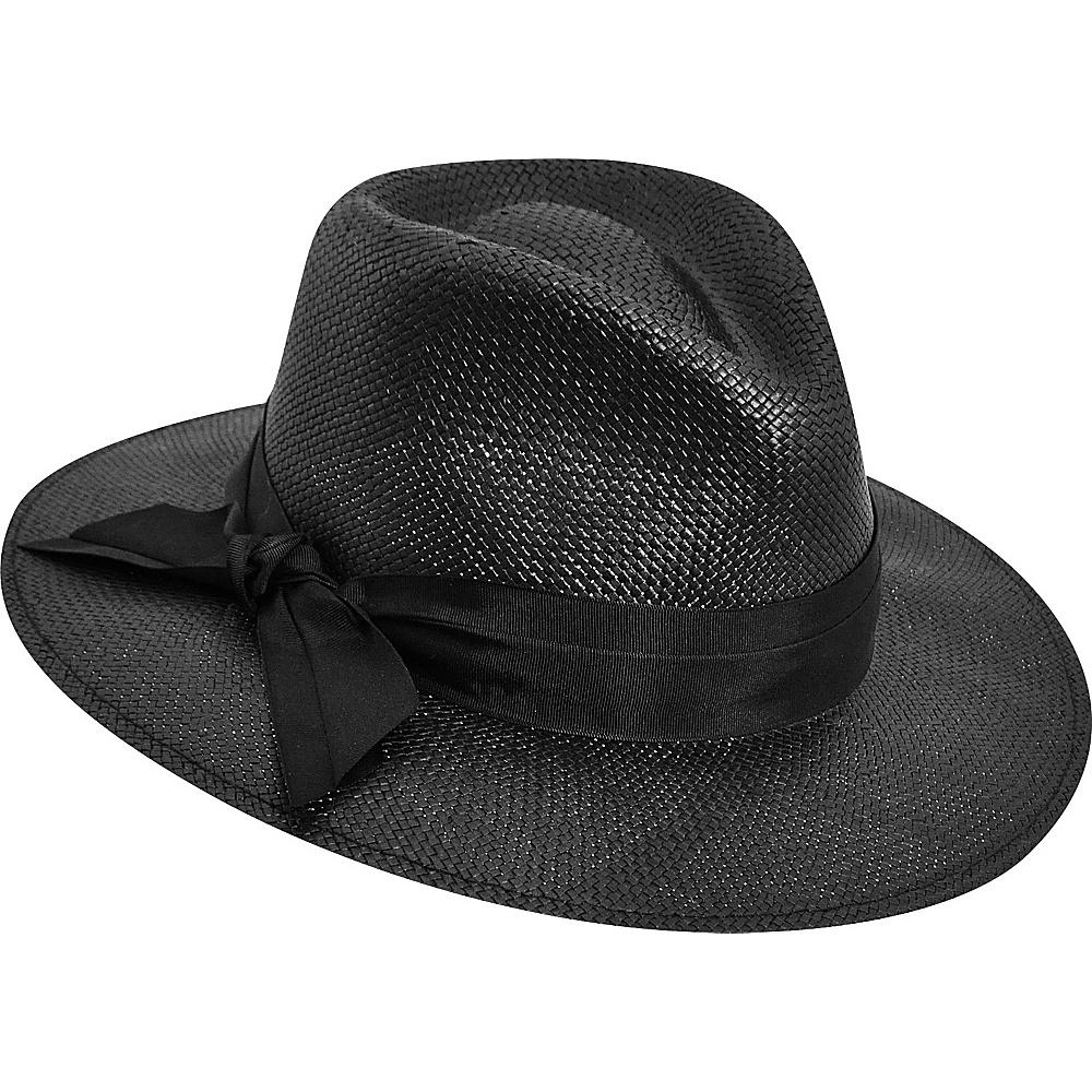 Karen Kane Hats Straw Trilby Ii Hat Black S M Karen Kane Hats Hats Gloves Scarves