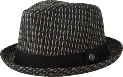 Ben Sherman Open Vent Straw Fedora S/M - Jet Black - Ben Sherman Hats/Gloves/Scarves