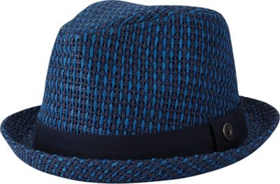 Ben Sherman Open Vent Straw Fedora S/M - Staples Navy - Ben Sherman Hats/Gloves/Scarves