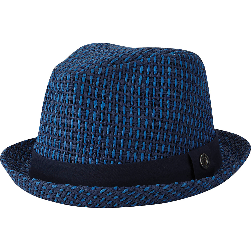 Ben Sherman Open Vent Straw Fedora Staples Navy - S/M - Ben Sherman Hats/Gloves/Scarves