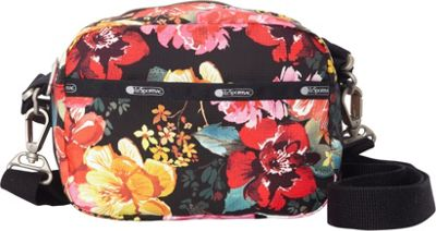 LeSportsac Cafe Convertible Crossbody Romantics Black C - LeSportsac Fabric Handbags