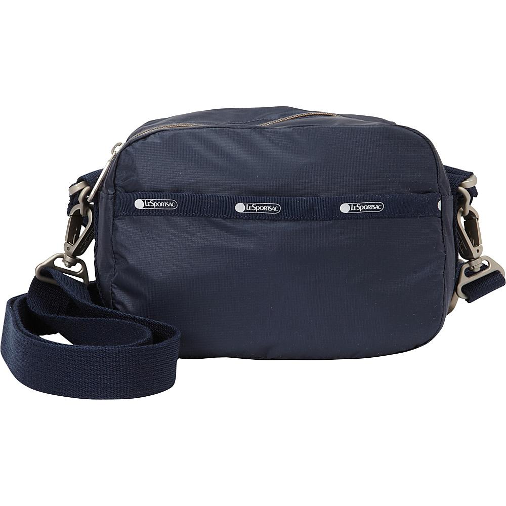 LeSportsac Cafe Convertible Crossbody Classic Navy C LeSportsac Fabric Handbags