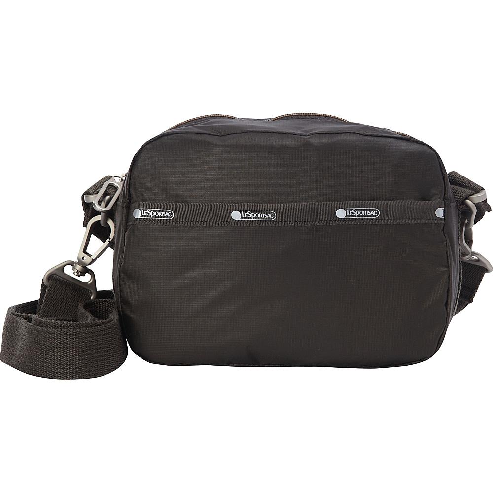 LeSportsac Cafe Convertible Crossbody Gravel C LeSportsac Fabric Handbags
