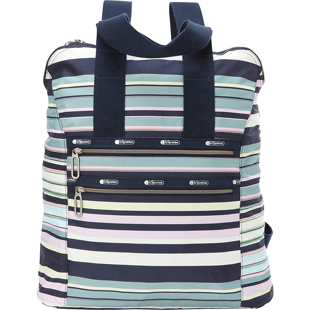 LeSportsac Commuter Backpack Beach Stripe - LeSportsac School & Day Hiking Backpacks