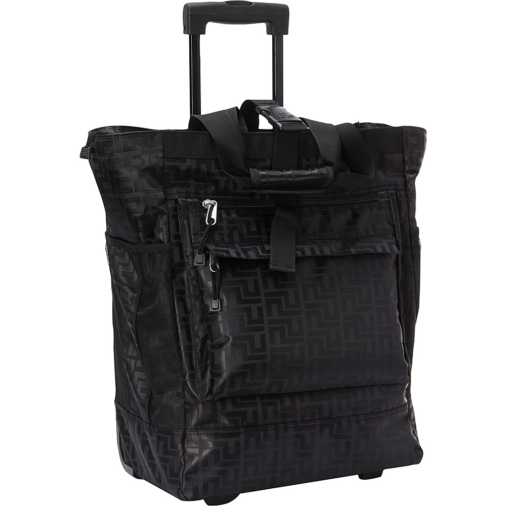 Everest Rolling Tote Black - Everest All-Purpose Totes - Travel Accessories, All-Purpose Totes