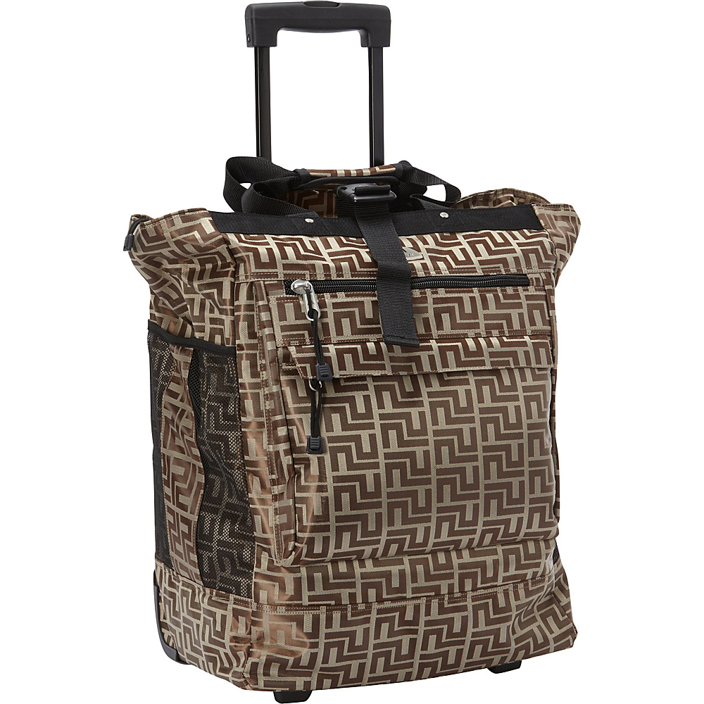 Everest Rolling Tote Brown - Everest All-Purpose Totes - Travel Accessories, All-Purpose Totes