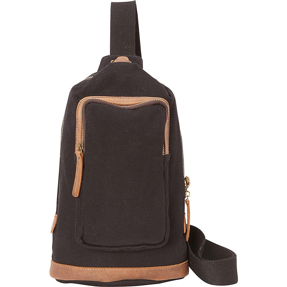 Vagabond Traveler Cotton Canvas Chest Pack Travel Bag Black - Vagabond Traveler Waist Packs - Backpacks, Waist Packs