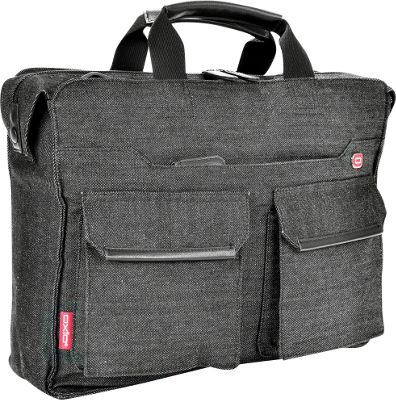 Oxio Oxio Sheenko II Laptop Brief Grey - Oxio Non-Wheeled Business Cases