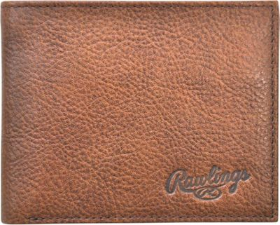 Rawlings Triple Play Bifold Wallet Cognac - Rawlings Men's Wallets