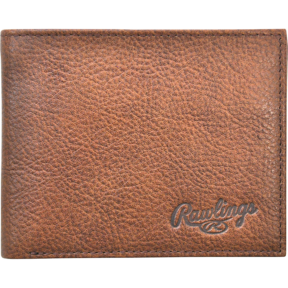 Rawlings Triple Play Bifold Wallet Cognac Rawlings Men s Wallets