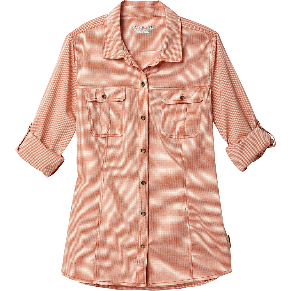 Royal Robbins Womens Diablo Camp Shirt XS - Dusty Coral - Royal Robbins Womens Apparel - Apparel & Footwear, Women's Apparel