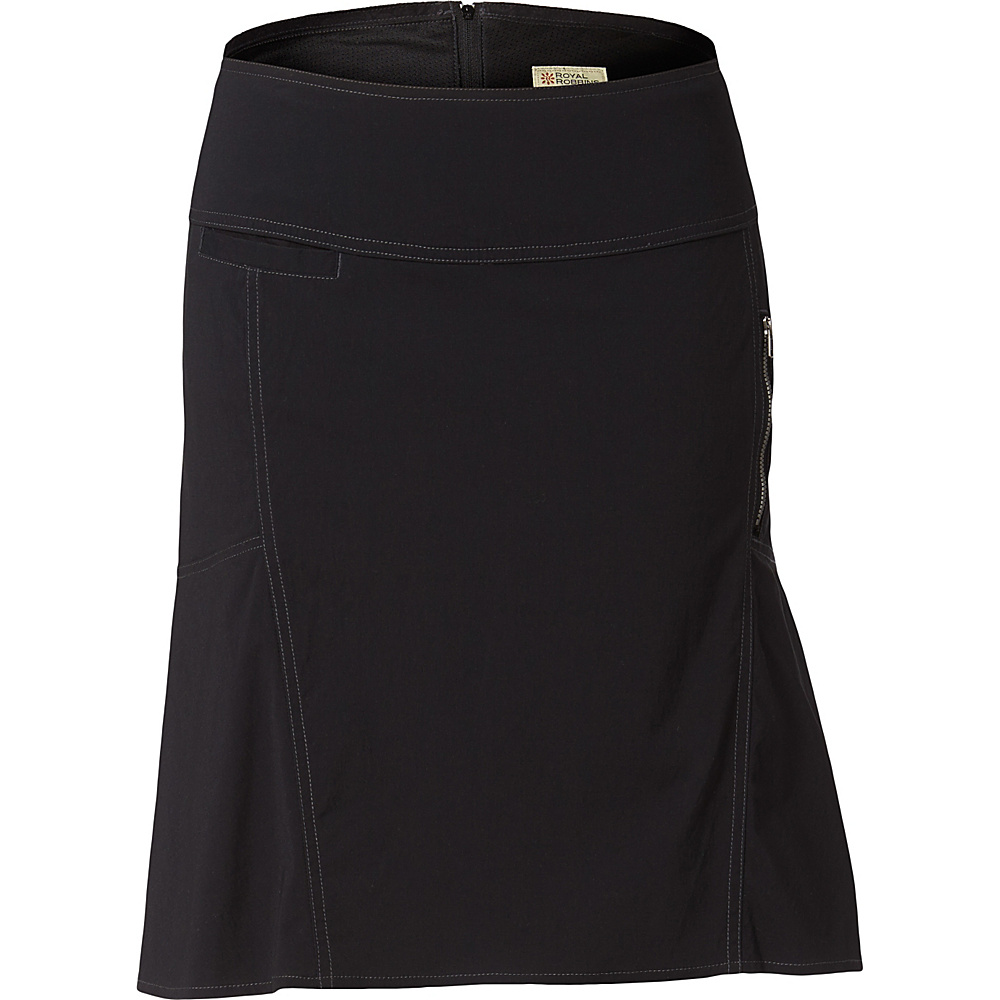 Royal Robbins Womens Discovery Strider Skirt 6 - Jet Black - Royal Robbins Womens Apparel - Apparel & Footwear, Women's Apparel