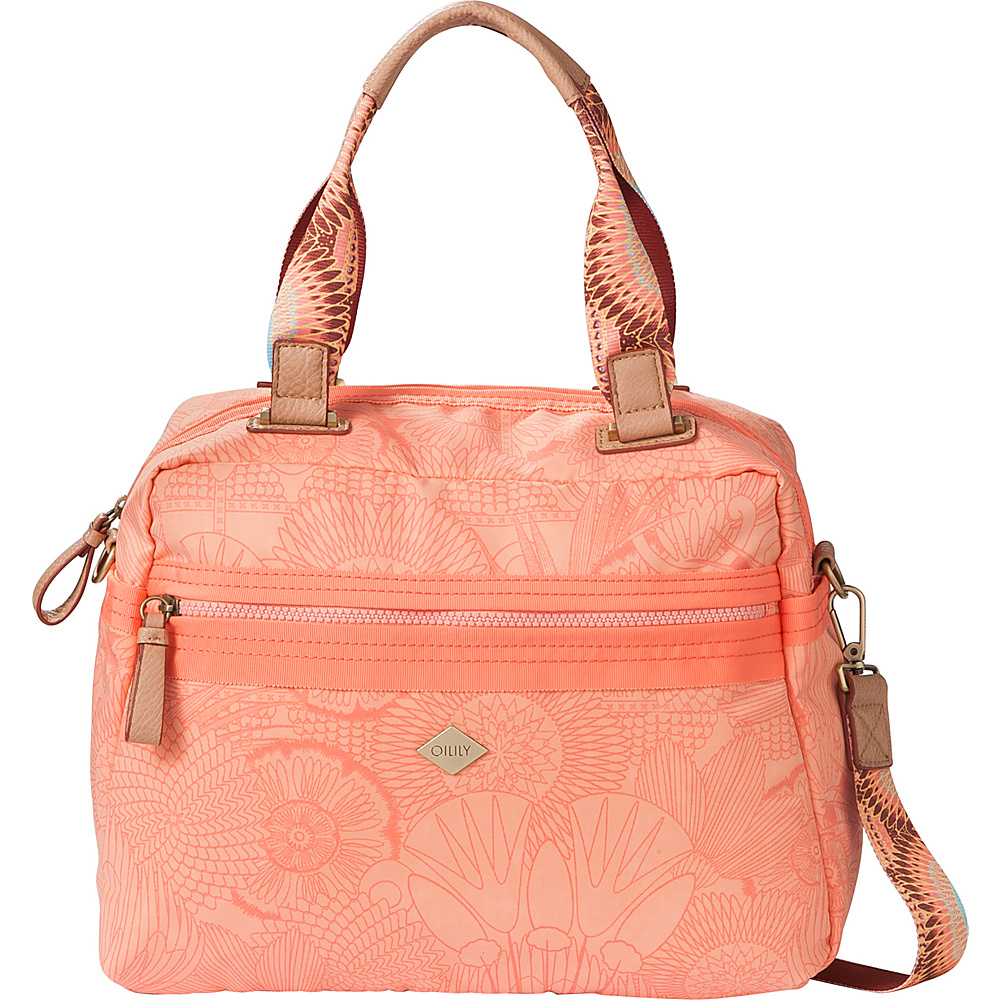 Oilily City Satchel Handbag Marshmallow Oilily Fabric Handbags