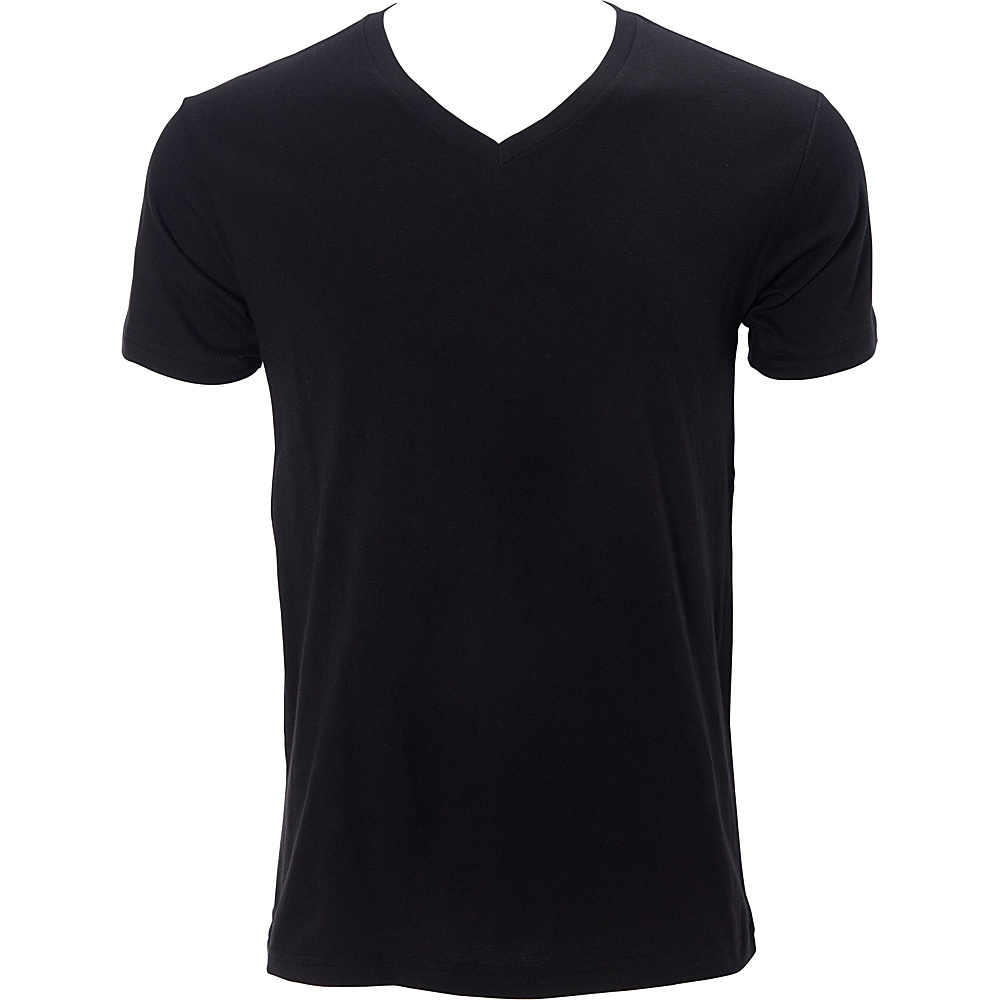Simplex Apparel Premium Mens V Tee M - Black - Simplex Apparel Mens Apparel - Apparel & Footwear, Men's Apparel