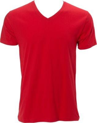 Simplex Apparel Premium Mens V Tee 3XL - Red - Simplex Apparel Men's Apparel
